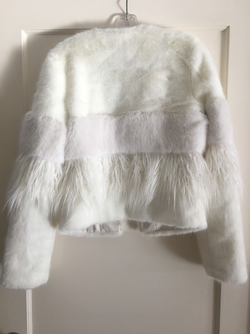 bebe Faux Two-tone Chic Fur Coat Image 3