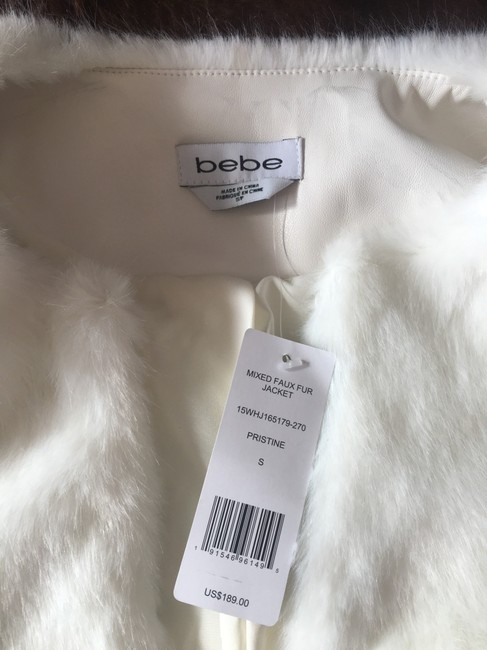 bebe Faux Two-tone Chic Fur Coat Image 6
