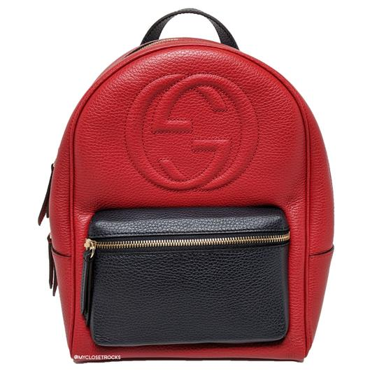 Preload https://img-static.tradesy.com/item/26118070/gucci-soho-chain-red-and-navy-leather-backpack-0-0-540-540.jpg