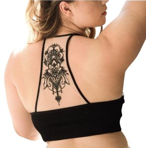 Unbranded Plus Size Tattoo Mesh Bralettes