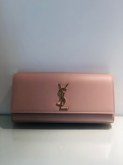 Saint Laurent Pale Pink Clutch Image 1