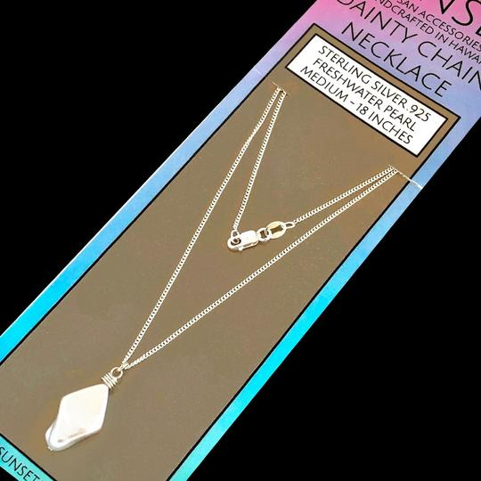 Island Sunset Artisan Accessories Dainty Chain Necklace .925 Image 1