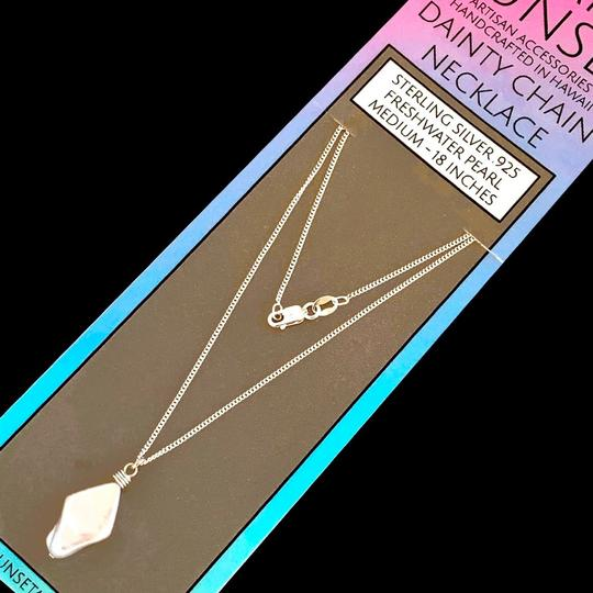 Island Sunset Artisan Accessories Dainty Chain Necklace .925 Image 5