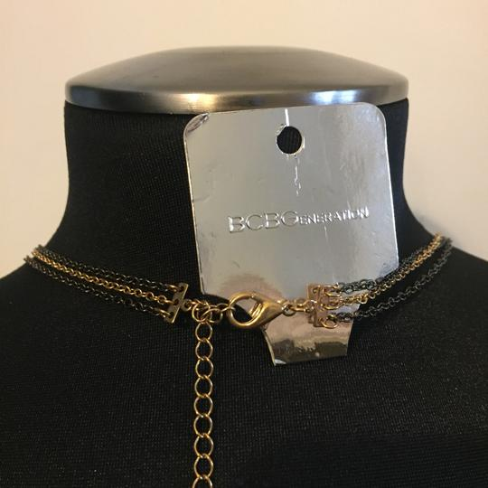 BCBGeneration toned CHAIN layered tiered body chain black gem beaded Image 2