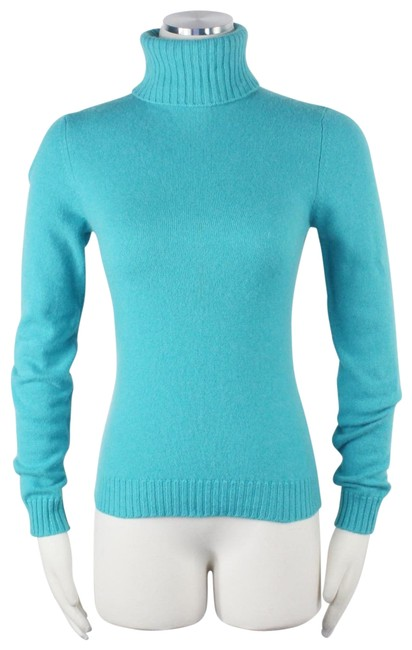 Preload https://img-static.tradesy.com/item/26118117/bloomingdale-s-cashmere-collection-fitted-turtleneck-fine-knit-blue-sweater-0-1-650-650.jpg