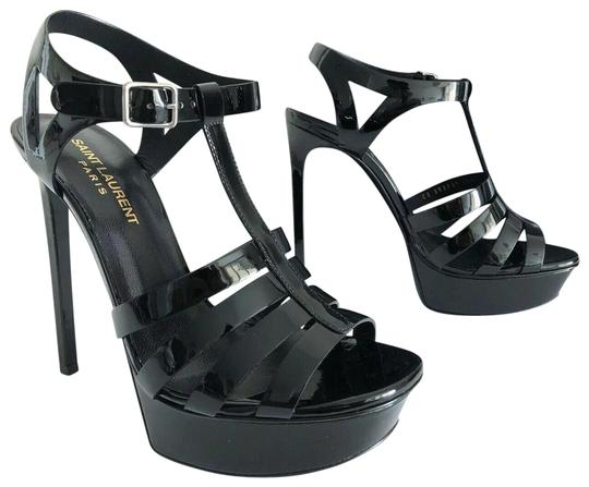 Saint Laurent Bianca Tribtoo Platform Paris Black Pumps Image 0