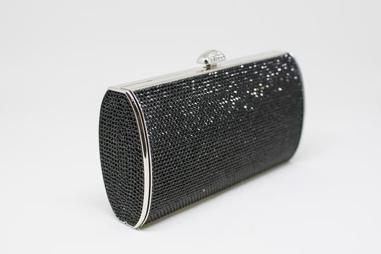 Judith Leiber Cosmojet Couture Fashion Black Crystal Clutch Image 1