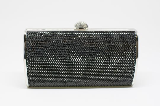 Judith Leiber Cosmojet Couture Fashion Black Crystal Clutch Image 3