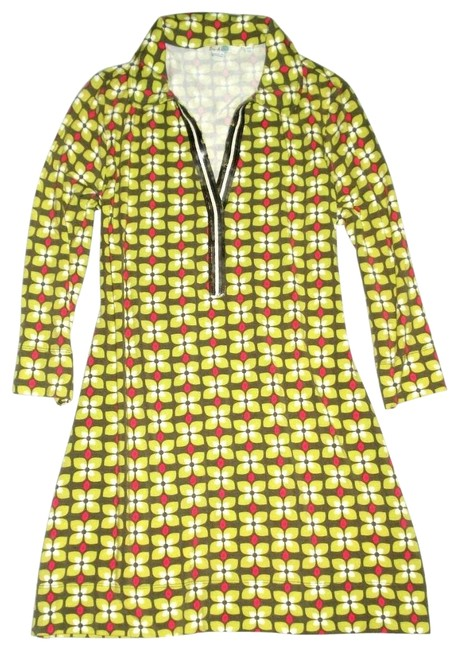 Preload https://img-static.tradesy.com/item/26118143/boden-olive-green-floral-sequin-detail-34-sleeve-knit-tunic-short-casual-dress-size-6-s-0-1-650-650.jpg