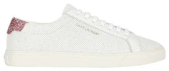 Preload https://img-static.tradesy.com/item/26118147/saint-laurent-white-df-pink-heel-perforated-andy-5-sneakers-size-eu-35-approx-us-5-regular-m-b-0-1-540-540.jpg