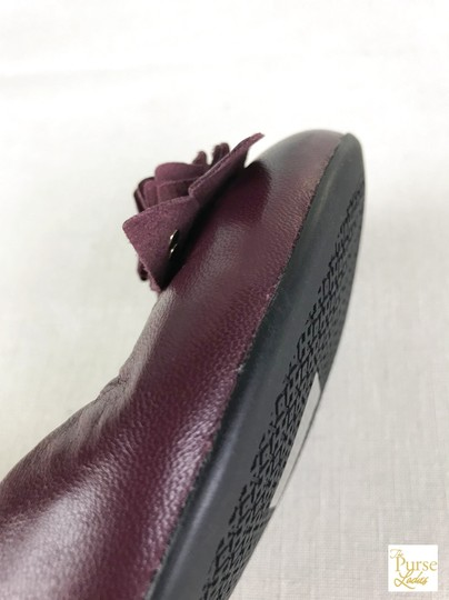 Tory Burch Maroon Blossom 6.5 Women's Red Flats Image 3