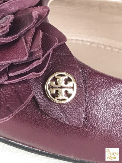 Tory Burch Maroon Blossom 6.5 Women's Red Flats Image 8