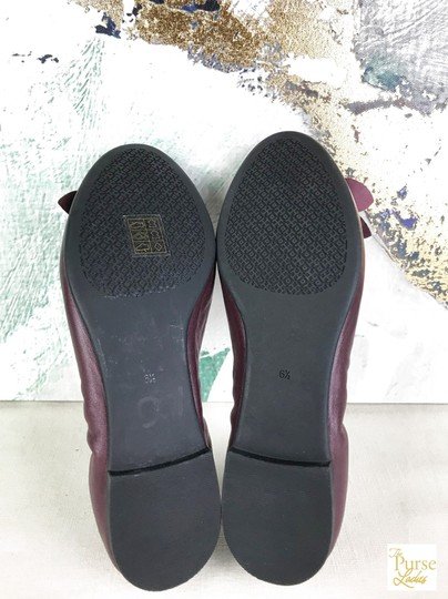 Tory Burch Maroon Blossom 6.5 Women's Red Flats Image 9
