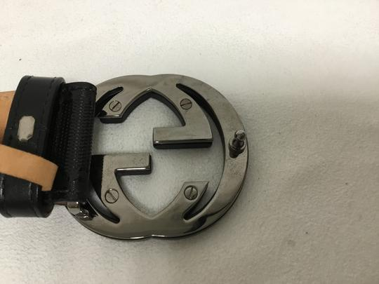 Gucci Black GG monogram belt with black buckle Image 6