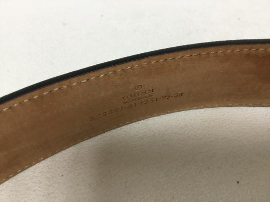 Gucci Black GG monogram belt with black buckle Image 7