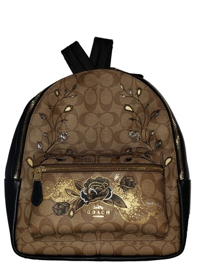 Preload https://img-static.tradesy.com/item/26118200/coach-chelsea-charlie-in-signature-cavas-with-animation-khakiblack-leather-backpack-0-0-540-540.jpg