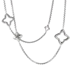 David Yurman LIKE NEW!! STUNNING!! David Yurman Sterling Silver Quatrefoil Necklace