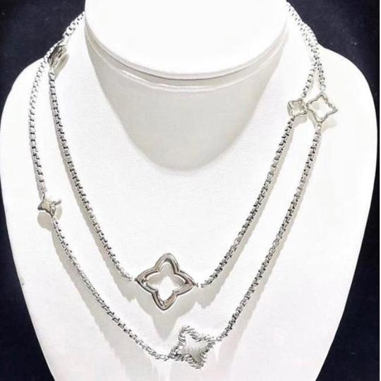 David Yurman LIKE NEW!! STUNNING!! David Yurman Sterling Silver Quatrefoil Necklace Image 3