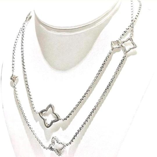 David Yurman LIKE NEW!! STUNNING!! David Yurman Sterling Silver Quatrefoil Necklace Image 8
