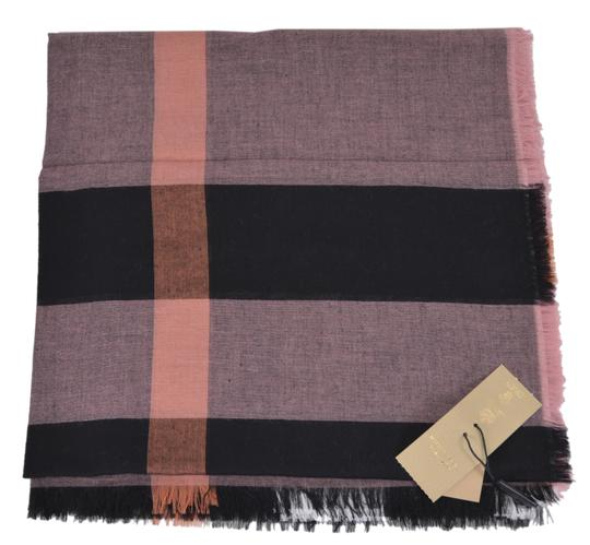Burberry New Burberry Modal Wool Nova Check Large Square Scarf Image 1