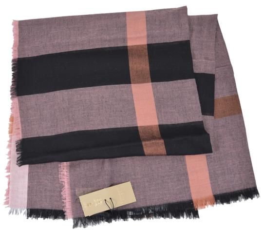Burberry New Burberry Modal Wool Nova Check Large Square Scarf Image 2