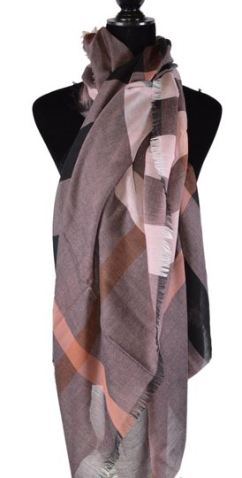 Burberry New Burberry Modal Wool Nova Check Large Square Scarf Image 5