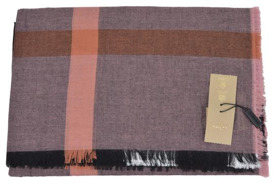 Burberry New Burberry Modal Wool Nova Check Large Square Scarf Image 6