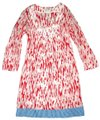 Boden short dress Red 3/4 Sleeve Stitched Details Color-blocking Tunic Pullover on Tradesy Image 0