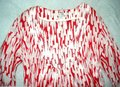 Boden short dress Red 3/4 Sleeve Stitched Details Color-blocking Tunic Pullover on Tradesy Image 1