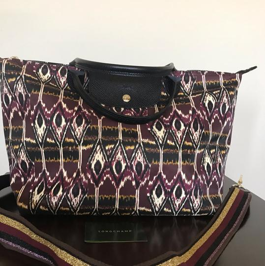 Longchamp Tote in Burgdy Image 3