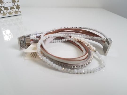 SAACHI Leather Crystal, Pearl and Chain Image 4