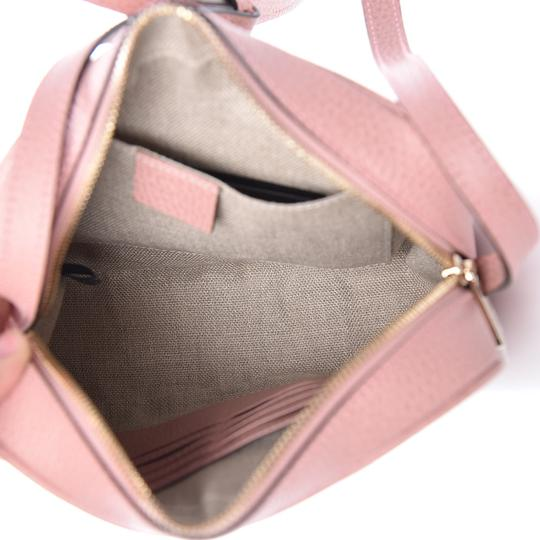 Gucci Chic Leather Canvas Shoulder Gold Hardware Cross Body Bag Image 5