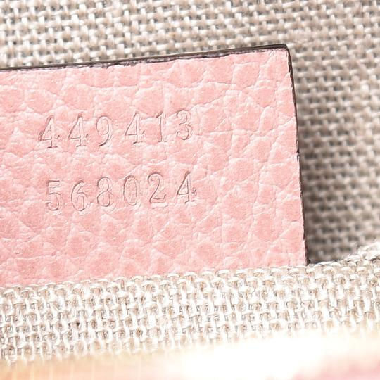 Gucci Chic Leather Canvas Shoulder Gold Hardware Cross Body Bag Image 6