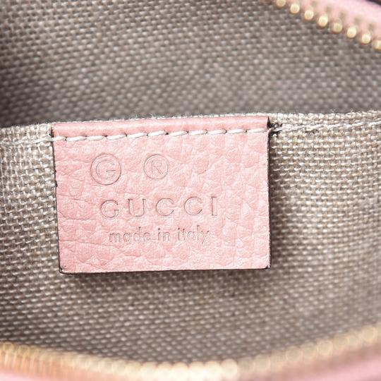 Gucci Chic Leather Canvas Shoulder Gold Hardware Cross Body Bag Image 7