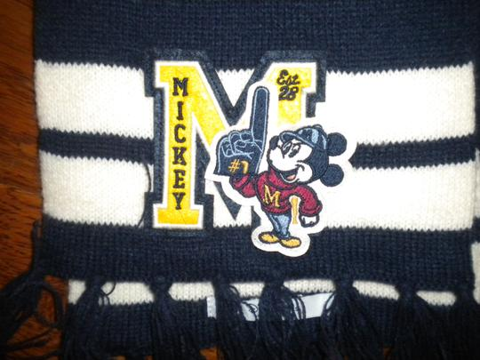Disney Disney Parks Adult OS Mickey Mouse Letterman Scarf Image 3