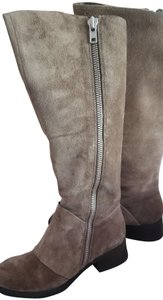 Luca Stephani Suede Kneehigh Taupe Boots