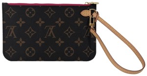 Louis Vuitton Lv Neverfull Neverfull Pm Monogram Pouch Wristlet in Brown