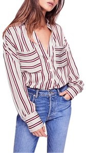Free People Polyester Top Multicolor