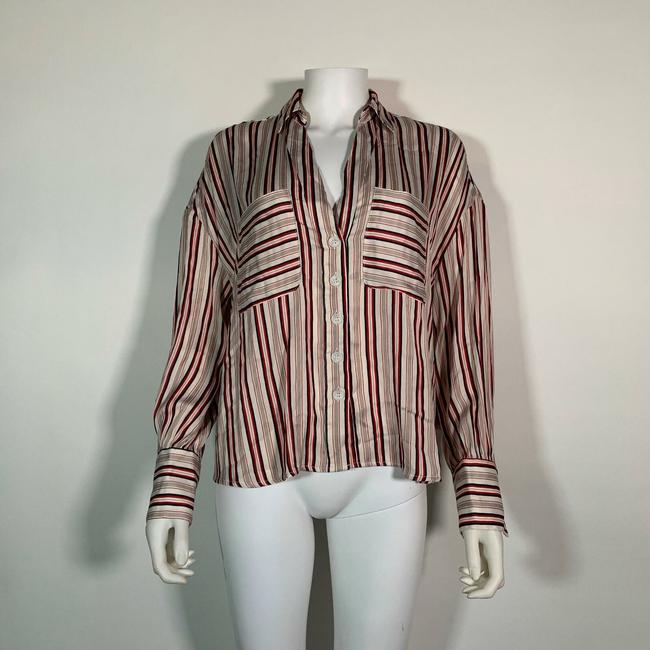 Free People Polyester Top Multicolor Image 1