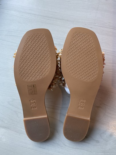 Tory Burch Vacation Shiny Sparkle Sexy Beige Sandals Image 3