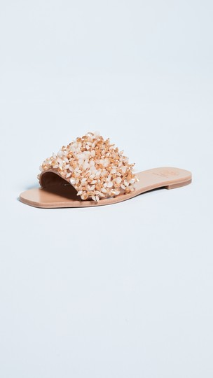 Tory Burch Vacation Shiny Sparkle Sexy Beige Sandals Image 4