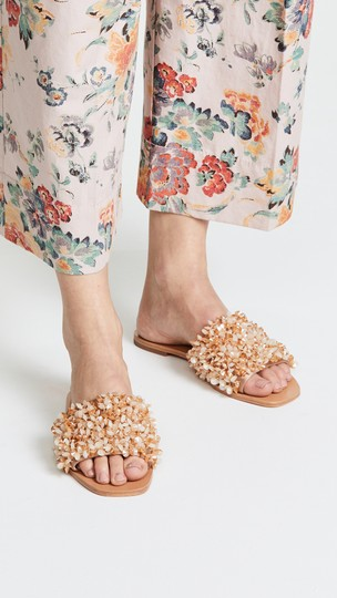 Tory Burch Vacation Shiny Sparkle Sexy Beige Sandals Image 5