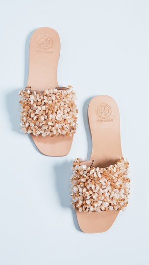 Tory Burch Vacation Shiny Sparkle Sexy Beige Sandals Image 6