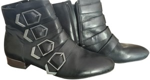 Sam Edelman Leather Buckles Black Boots