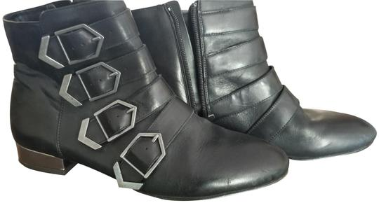 Sam Edelman Leather Buckles Black Boots Image 0