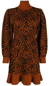 Ulla Johnson short dress Rust Lovers Animal Print Sweater on Tradesy