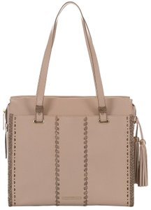 Brahmin Tote in Natural Crawford