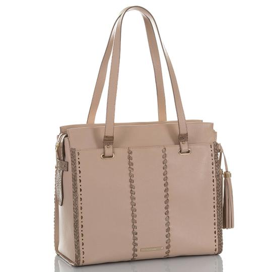 Brahmin Tote in Natural Crawford Image 1