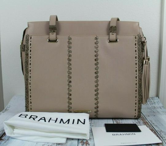 Brahmin Tote in Natural Crawford Image 4