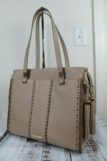 Brahmin Tote in Natural Crawford Image 6